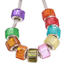 20pcs Lots Mixed Colorful Resin Charms Beads Fit European Snake Chain Bracelet D