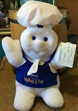 "NIP Pillsbury Giggling Doughboy 16"" Plush Stuffed Doll ~ White~ 1996 Giggle"