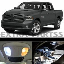 17x White Interior LED Lights Package Kit Dome Map US for 2015 + Dodge RAM 1500