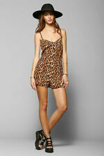 New SILENCE + NOISE ANIMAL PRINT STRAPPY SHORTS ROMPER M MD URBAN OUTFITTERS