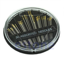 30PCS Assorted Hand Sewing Needles Embroidery Mending Craft Quilt Sew Case K2