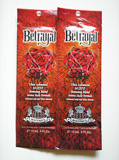 2 Designer Skin BETRAYAL Intense Sizzle Bronzer Indoor Tanning Lotion Packets