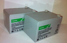 2 X LUCAS 12AH Mobility Scooter Batteries- VAT FREE LISTING