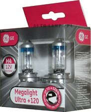 100% GE megalight ultra plus 120% Headlight Fog Light Bulbs Bulb H4 12V60/ 55W