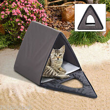 Outdoor Multiple A-Frame Kitty Cat House Waterproof Cold Weather Shelter