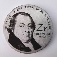 Pay Tribute to the Element Zirconium Discoverer 1.5inch Diameter Pure Metal Coin