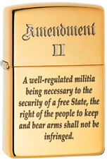 2nd Amendment Right to Bear Arms Patriotic Solid Brass Zippo Lighter