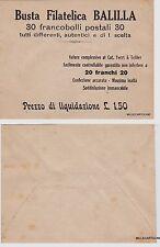 # FILATELIA anni '30: BUSTA FILAT. BALILLA PER VENDITA FRANCOBOLLI A PREZZO DI..