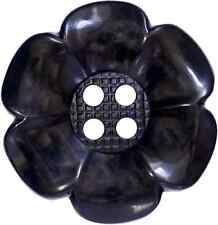 4 BIG BLACK LARGE GIANT FLOWER CLOWN BUTTONS CRAFTS AND FANCY DRESS COSTUMES