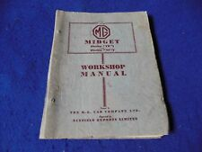 Original MG TD MG TF Factory Workshop Manual Issue 4 January 1954