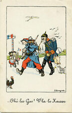 ILLUSTRATEUR  L. BOUZIAT. CARICATURE. SATIRIQUE GUILLAUME II. V'LA LE KAISER.