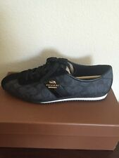 New  Coach Ivy Signature Peb Embs Pvc/Sde Black-Smoke/Black Sneakers Sz 7.5M