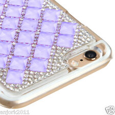 "iPhone 6 (4.7"") Snap Fit Back Cover 3D Bling Gem Case Purple Diamond"