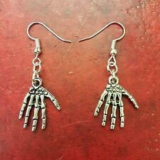 Skeleton Hands Earrings Halloween Gothic Silver Plated punk steampunk Lolita