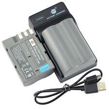 DSTE 2x EN-EL3E  Battery + USB Charger For NIKON D70 D70S D80 D90 D100 Camera