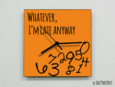 Whatever I'm Late Anyway / Square Orange - Wall Clock