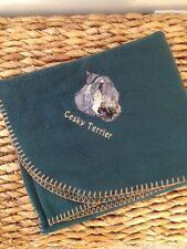 Personalized Cesky Terrier Fleece Throw Lap Dog Stroller Blanket