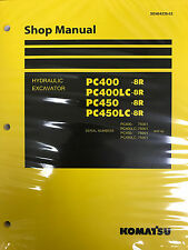 Komatsu PC400-8R PC400LC-8R PC450-8R PC450LC-8R Service Repair Printed Manual