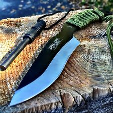 "7"" FULL TANG FIRE STARTER SURVIVAL HUNTING CAMPING KNIFE w/ FLINT"