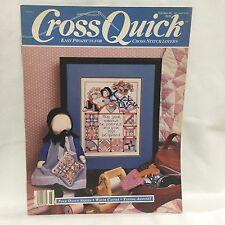 Cross Quick Magazine Easy Project Cross Stitch Lovers Feb/Mar 1989 Free Shipping