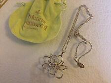 Orig. Vivienne Westwood Halskette KETTE Necklace Silber Blüte BLUME NEU Anhänger