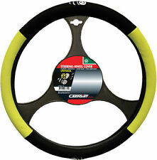 BRAND NEW CAR INTERIOR YELLOW & BLACK BEE STEERING WHEEL COVER