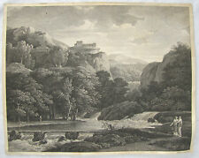 ANTIQUE Late 18TH CENTURY ENGRAVING  France VALENCIENNES Edme Bovinet 1793