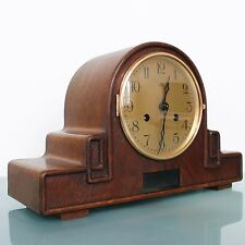 HALLER ART DECO ÁND BAUHAUS Mantel TOP!!! Clock Antique Germany HEAVY GONG Chime