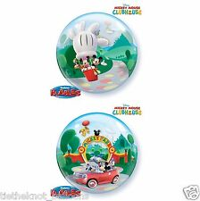 "22"" BUBBLE BALLOON DISNEY MICKEY MOUSE PARK DOUBLE SIDED"