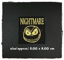 Jack Skellington Nightmare Before Christmas Sew On Iron Patch Embroidered Logo