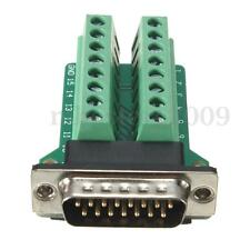 D-SUB DB15 2Row 15Pin Male Plug Breakout Board Terminals Connectors Without Nut