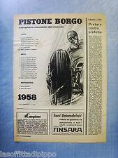 LAUTOM959-PUBBLICITA'/ADVERTISING-1959- PISTONE BORGO