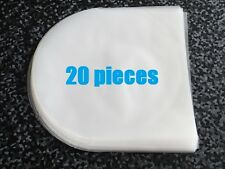 20 pieces Semitransparency Plastic Sleeves for CD's disc