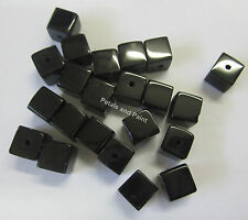 22 x 8mm Black Glass Cube Beads BNIP Bead For Beading & Jewellery Making CUB303