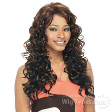 Freetress Equal Free Style Long Curly Synthetic Full Wig: SHONTELLE; Color 1