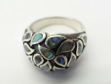 Vintage Used Old Thailand Sterling Silver CPT 925 Large Ladies Jewelry Ring