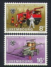Luxembourg 1983 Fire/Engines/Emergency/Rescue/Firemen/Transport 2v set (n34059)