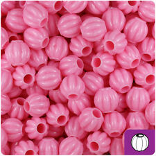 300 Baby Pink Opaque 10mm Melon Pony Beads Made in the USA
