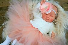 BUTTERFLY BABIES REBORN BABY DOLL FAKE BABY GIRL PEACH TUTU SOFIA