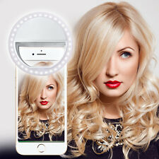 Per Apple iPhone 4 Bianco Selfie 36 LED Flash Ad Anello Da inserire Leggera Clip