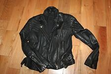 Authentic All Saints Womens  Black Leather  BickerJacket  Size 10