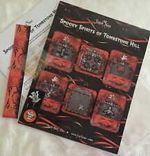 Just Nan SPOOKY SPIRITS OF TOMBSTONE HILL Cross Stitch Leaflet Pin Beads Band