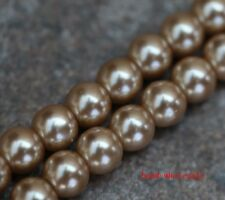 Wholesale 4/6/8/10mm Charm Faux Pearl Glass Spacer Loose Craft Beads For Craft