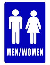 Bathroom Sign..MEN / WOMENS ROOM SIGN..Aluminum NO RUST..High Gloss Bright color