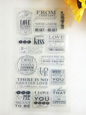 1 Sheet Silicone Transparent Stamp Seal love-words DIY Scrapbooking Album