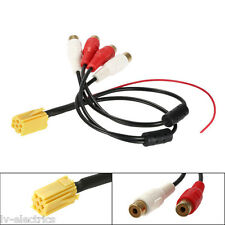 MINI ISO ADAPTER Aux Line Out 4 Cinch RCA Cable Lead VDO VW Audi Seat Skoda Ford