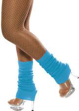 Retro Stulpen neon-blau NEU - Zubehör Accessoire Karneval Fasching