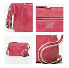 Auth. Coach 46422 Camelia Poppy Leather Swing Pack Pink Crossbody Bag (RARE!)