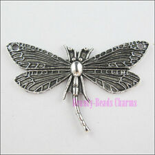 5Pcs Tibetan Silver Dragonfly Charms Pendants Connectors 30x48.5mm