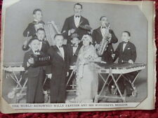 WILLY PANTZER AND HIS MIDGETS PHOTO AND AUTOGRAPHS 1935